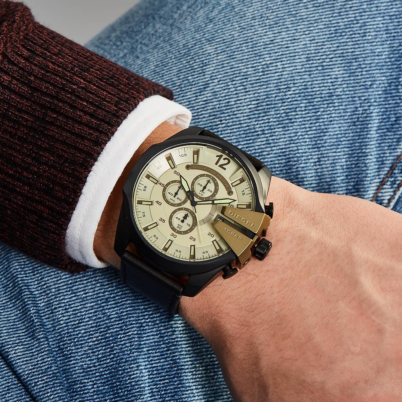 3510f6760 Diesel Mega Chief hodinky DZ4495 - Hodinky