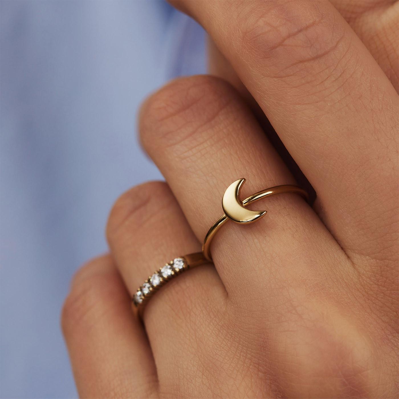 Selected Jewels Julie Louna 925 Sterling Zilveren Goudkleurige Ring SJ300017