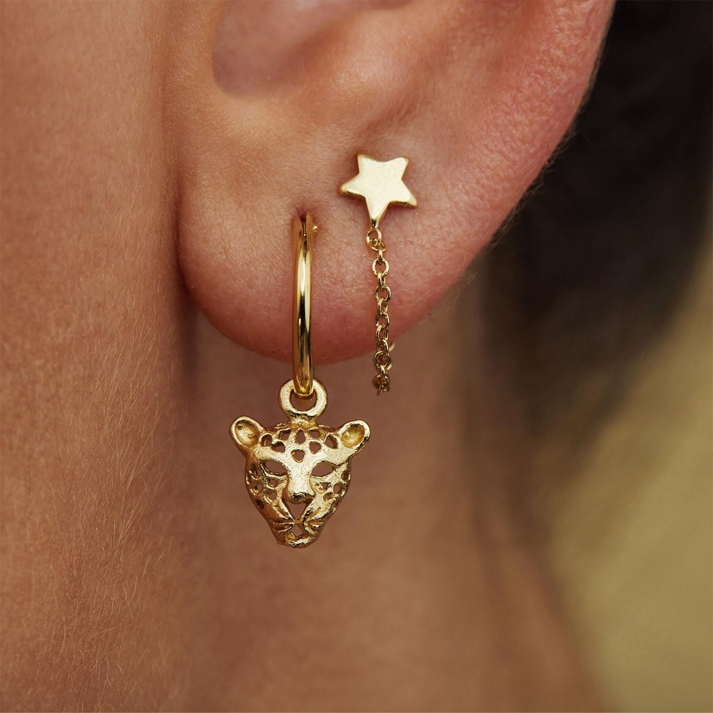 Selected Jewels Selected Gifts 925 sterling zilveren goudkleurige set oorbellen SJSET380006