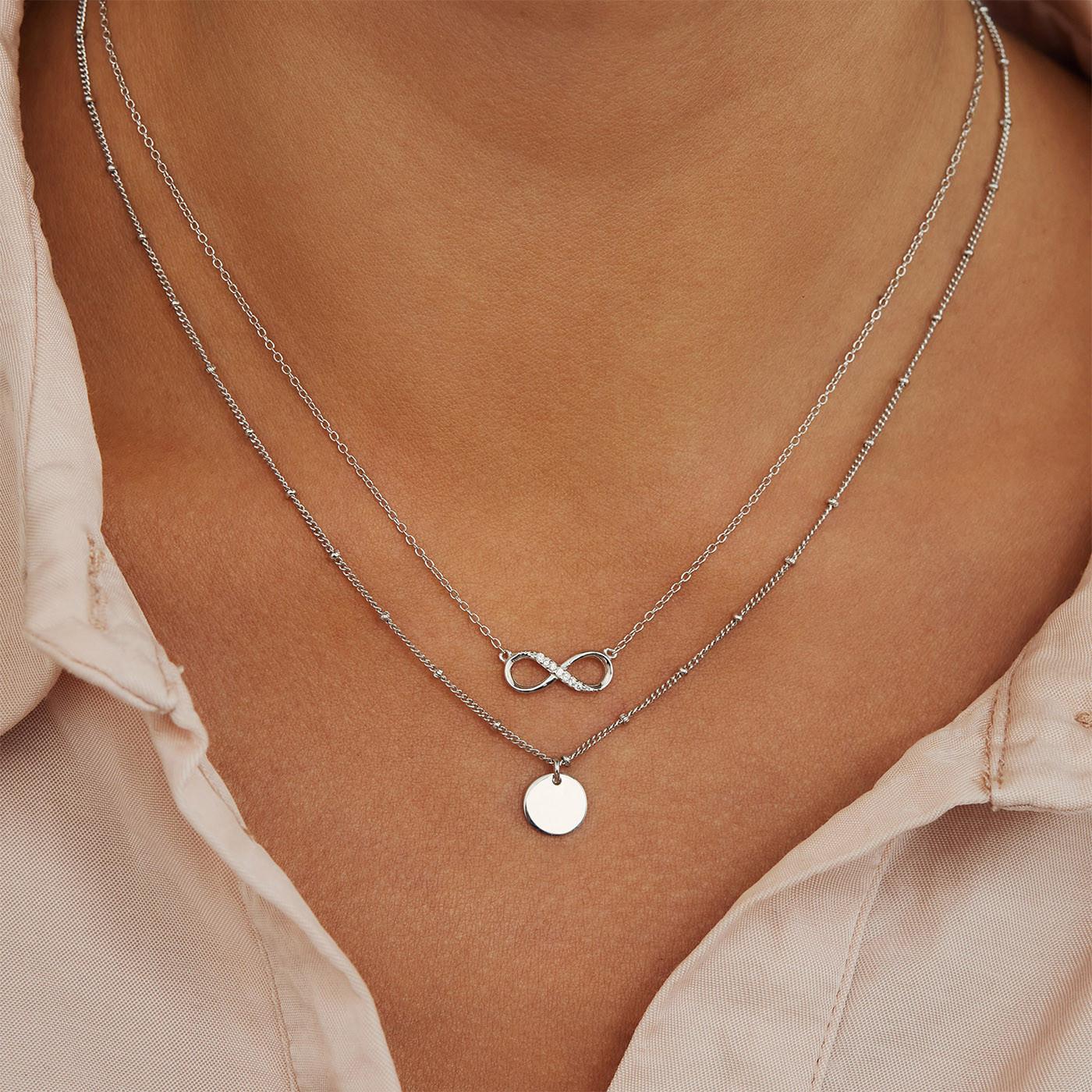 Selected Jewels Julie Emilie 925 sterling zilveren infinity ketting SJ1318856