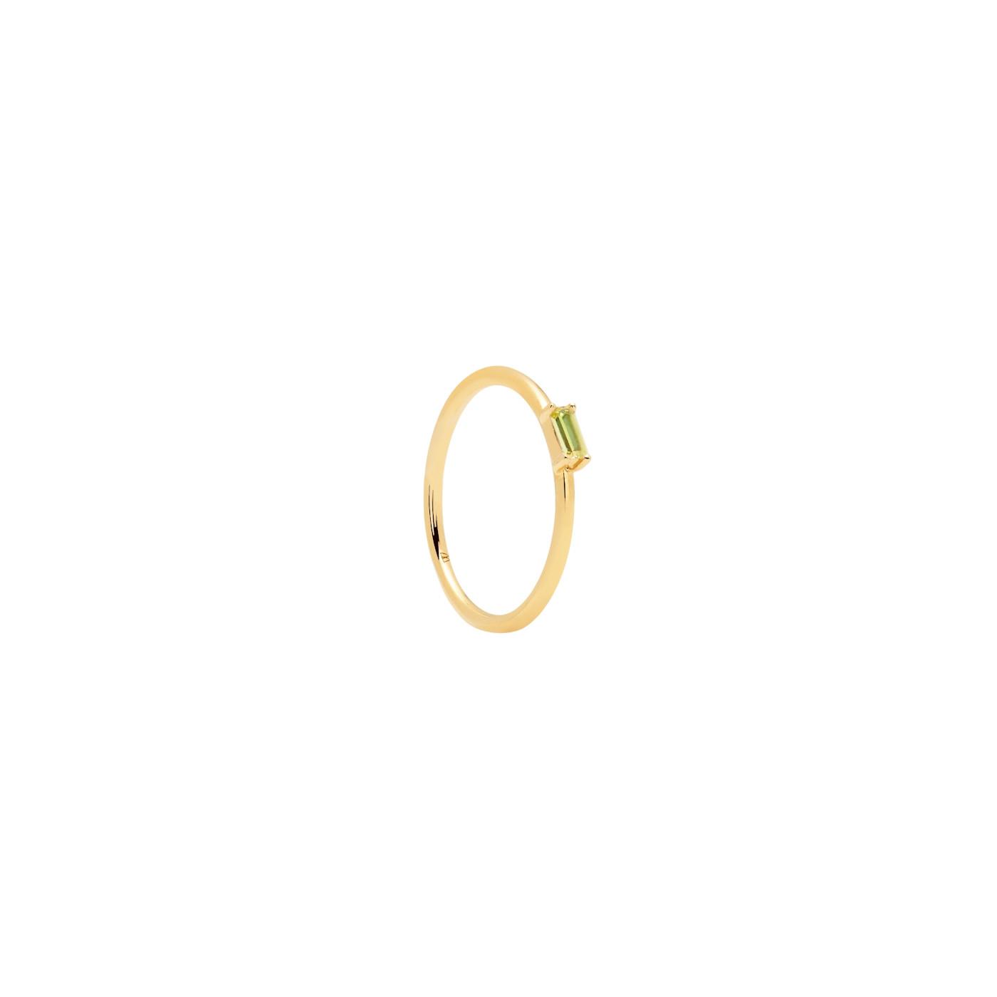 P D Paola 925 Sterling Zilveren Goudkleurige Aisha Apple Amani Ring AN01-147