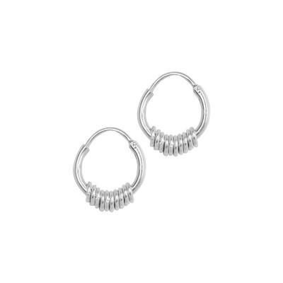 ANNA + NINA 925 Sterling Zilveren Essentials Multi Oorbellen 011614S0000