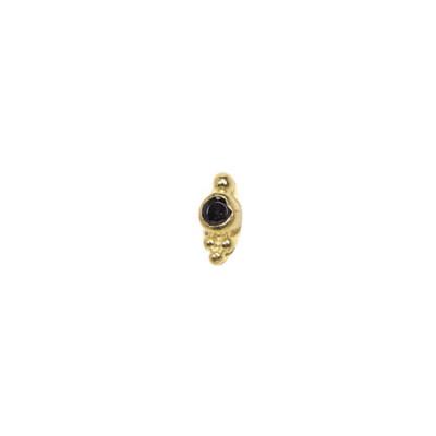 ANNA + NINA 925 Sterling Zilveren Essentials Bindi Dot Oorstekers 021501GP0000