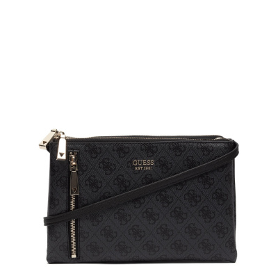 GUESS Naya Coal Double Zip Crossbody HWBL78-81700-COA