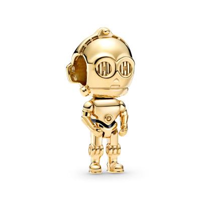 Pandora Disney 925 Sterling Zilveren Goudkleurige Star Wars C3PO Bedel 769244C01