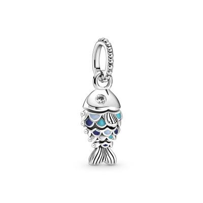 Pandora Passions 925 Sterling Zilveren Blue Scaled Fish Bedel 799428C01