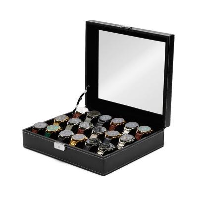 Mats Meier Mont Fort černá krabička na hodinky - 18 hodinek