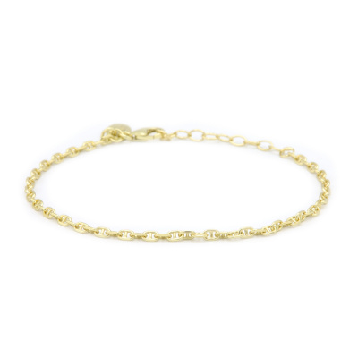 Karma 925 Sterling Zilver Goudkleurige Chain Armband 94128GP (Lengte: 16.50 - 19.00 cm)