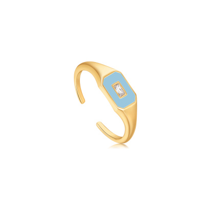 Ania Haie 925 Sterling Zilver Goudkleurige Bright Future Ring AH-R028-01G-B