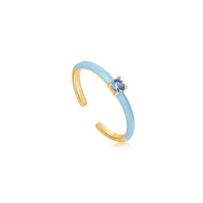 Ania Haie 925 Sterling Zilver Goudkleurige Bright Future Ring AH-R028-03G-B