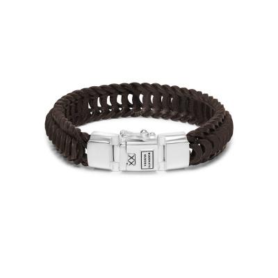Buddha to Buddha Lars Leather Armband 122BR (Lengte: 19.00-23.00 cm)