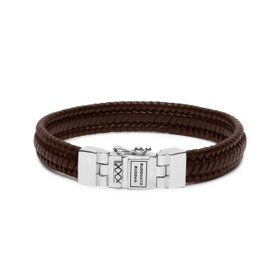 Buddha to Buddha Edwin Small Leather Brown Armband 181BR-E (Lengte: 19.00-23.00 cm)