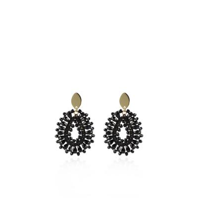 LOTT. Gioielli 925 Sterling Zilveren Zwartkleurige Oorbellen CESI157-G28831