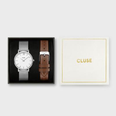 CLUSE Minuit horloge en Horlogeband Giftset CG10207