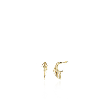 LOTT. gioielli 925 Sterling Zilveren Goudkleurige Oorbellen CLEA968-G41533