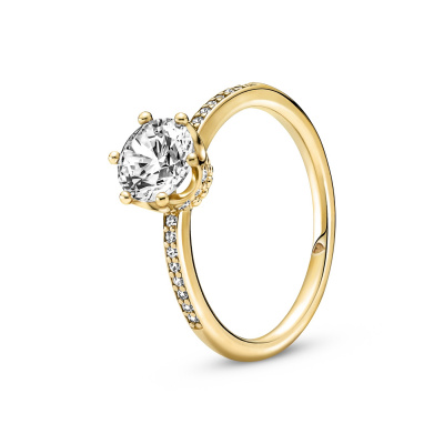 Pandora Clear Sparkling Crown Solitaire Ring 168289C01