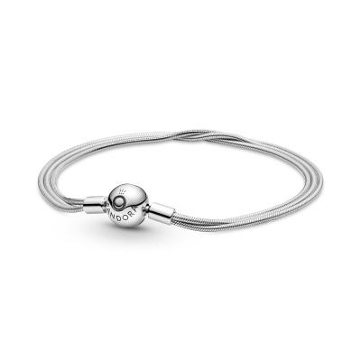 Pandora Moments 925 Sterling Zilveren Snake Chain Armband 599338C00 (Lengte: 17.00 - 21.00 cm)