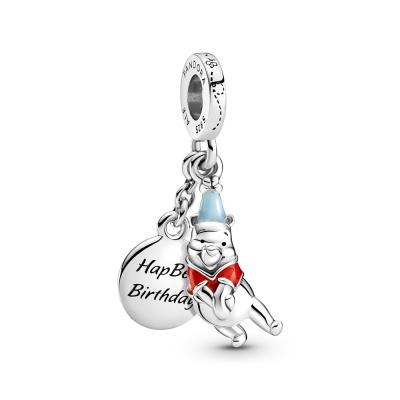 Pandora Disney 925 Sterling Zilveren Winnie the Pooh Birthday Hanger 799385C01