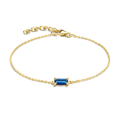 Isabel Bernard 14 karaat gouden Baguette Mirell armband IB320040