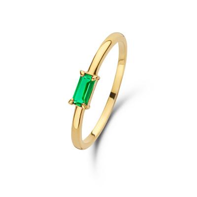 Isabel Bernard 14 karaat gouden Baguette Odie ring IB330021