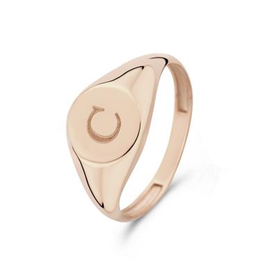 Isabel Bernard La Concorde Lauren 14 Karaat Rosé Gouden Initial Ring IB330036C (Letter: C)