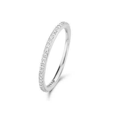Isabel Bernard Asterope Stones 14 Karaat Witgouden Stacking Ring IBGR00022