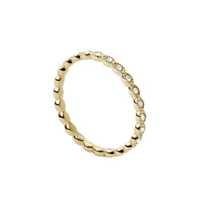 Fossil Vintage Iconic Goudkleurige Ring JF03749710