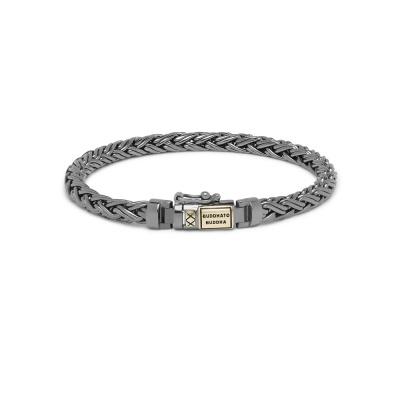 Buddha to Buddha Black Rhodium Heritage Katja XS Armband J170BRSG (Lengte: 17.00-21.00 cm)