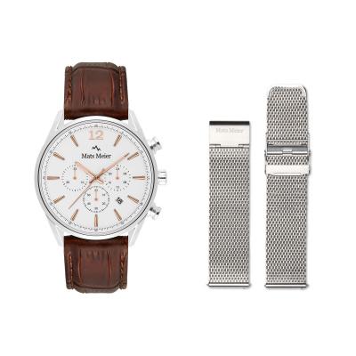 Mats Meier Grand Combin Herenhorloge En Horlogeband Giftset MM90013