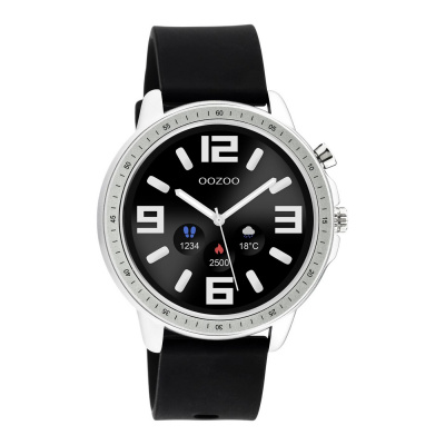 OOZOO Zwart/Zilverkleurig Display Smartwatch Q00300