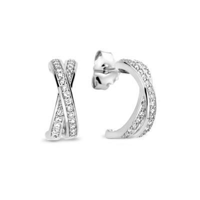 Selected Jewels 925 Sterling Zilveren Hannah Oorstekers SJ0210249