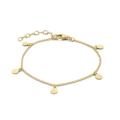 Selected Jewels Julie Belle 925 Sterling Zilveren Goudkleurige Armband SJ320016