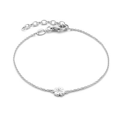 Selected Jewels Julie Olivia 925 Sterling Zilveren Armband Met Klavertje Vier SJ320031