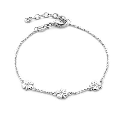 Selected Jewels Julie Olivia 925 Sterling Zilveren Armband Met Klavertje Vier SJ320038