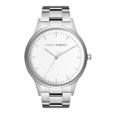 Violet Hamden Moon Phase Silver Colored/White horloge VH05028
