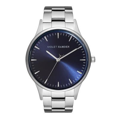 Violet Hamden Moon Phase Silver Colored/Blue horloge VH05031
