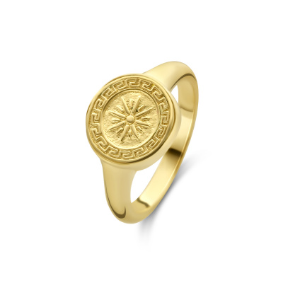 Violet Hamden Athene 925 Sterling Zilveren Goudkleurige Ring VH33001
