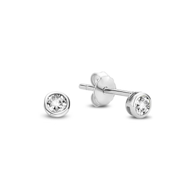 Violet Hamden Venus 925 Sterling Zilveren Oorstekers Met Geboortesteen VH360018 (JAN-DEC)