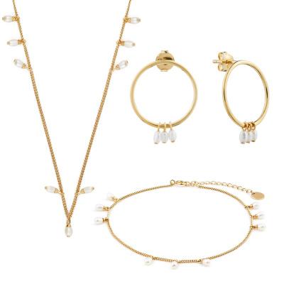 Violet Hamden Luminous Lake 925 Dárková sada šperků ze stříbra a zlata VH90015