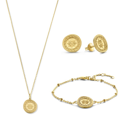 Violet Hamden Luna 925 Sterling Zilveren Goudkleurige Sieraden Giftset VH90024